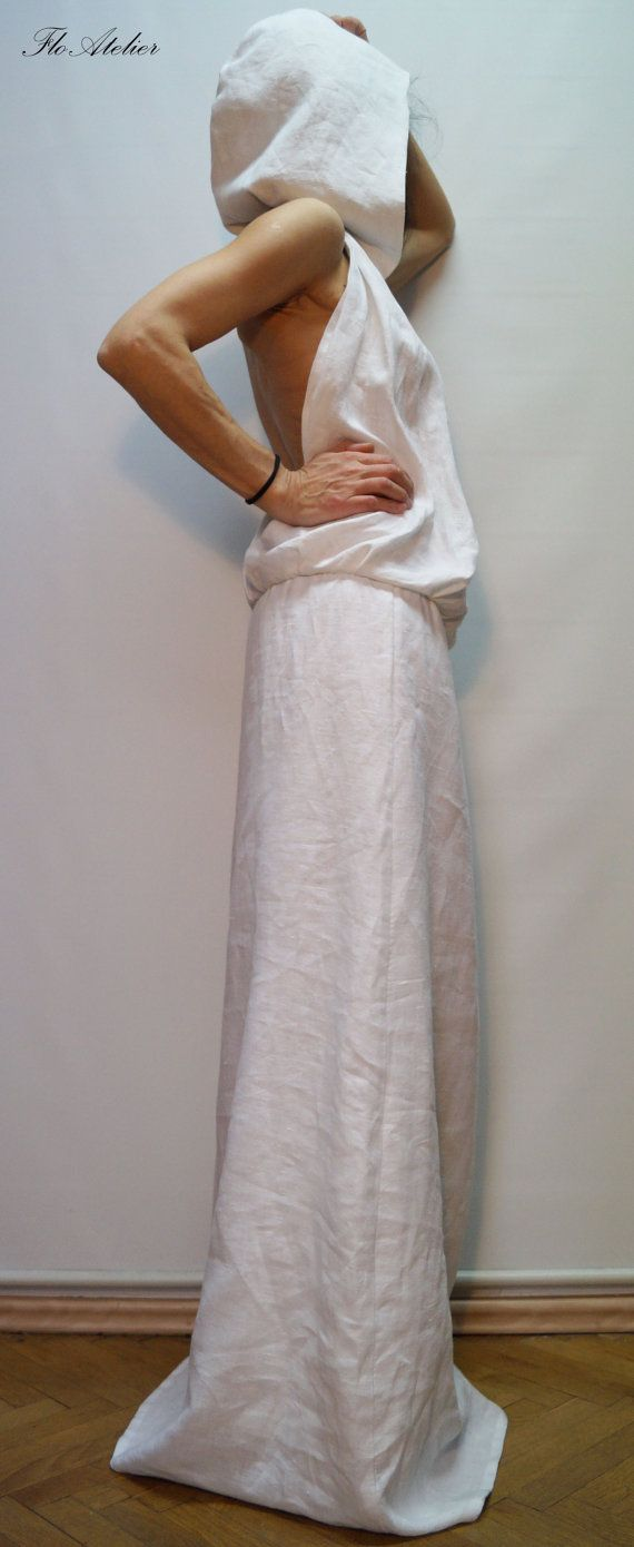 Extremely comfortable , feminine dress. The open of the back gives an opportunity to feel the breeze on your skin. Wear it with flats everywhere in the hot summer days. Please note - wash it on 30 degree or handwash  MATERIALS  × linen cotton -------------------------------------------------------------------------------  Shop Policy Before ordering please check our shop policies https://www.etsy.com/shop/FloAtelier/policy?ref=shopinfo_policies_leftnav Every piec...