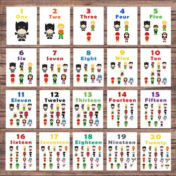 photo about Number Flash Cards Printable 1-20 known as Variety Flash Playing cards - 1-20 - Pre-k and Kindergarten