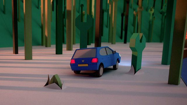 "Directed by Joseph Mann Subscribe - http://www.blinkink.co.uk/index.php  Blinkink and Blinkart collaborate on stunning paper stop motion film for Peugeot.  Blinkink director Joseph Mann has teamed up with Blinkart designer extraordinaire Kyle Bean to create a stunning stop motion paper world for Euro RSCG and Peugeot.  Mann and Bean, along with their team of paper artists, created everything in the 30"" film, including hundreds of individual spanners and bollards, over a period of ..."