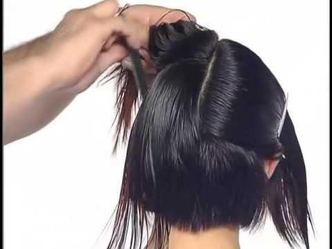 Vidal Sassoon long to short bob haircut haircut techniques for women - YouTube