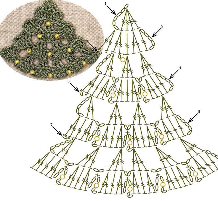 No.66 Christmas Tree Lace Crochet Motifs / 크리스마스트리 모티브도안