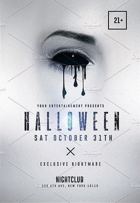 44 best Flyers - Halloween Templates images on Pinterest Flyer - invitation flyer template