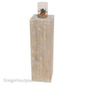 steigerhouten zuil groot met vijvervaas SP