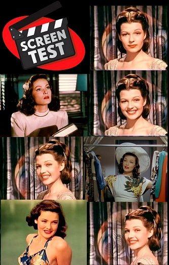 Screen test (prueba de cámara) de Rita Hayworth y Gene Tierney realizada en el año 1942.