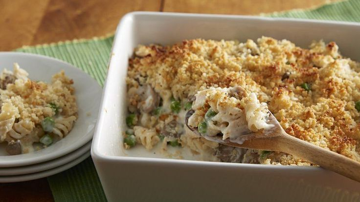 An easy version of a classic casserole made with rotisserie chicken and Chicken Helper™ crispy Parmesan chicken!