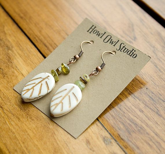 Leaf Earrings to support WWF Canada by HowlOwl on Etsy.