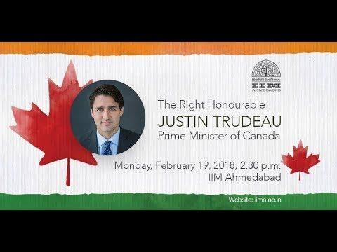 Live Webcast of The Right Honourable Justin Trudeau, Prime Minister of C...