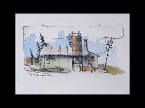 """Original 5""""x7"""", """"Shed and Silo"""" Watercolor by Peter Sheeler. For sale on EBay. - YouTube"""