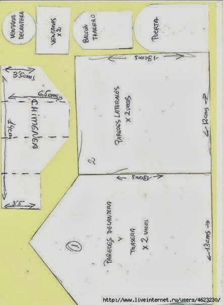 ARTE COM QUIANE - Paps,Moldes,E.V.A,Feltro,Costuras,Fofuchas 3D: Molde casinha de costura