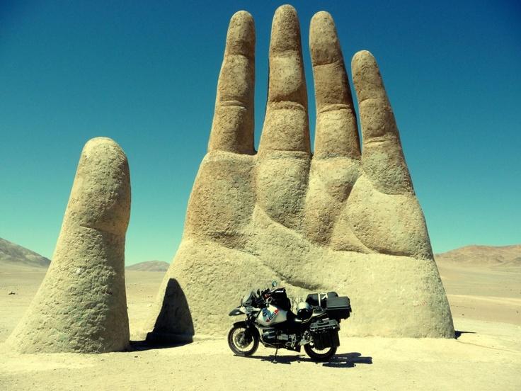 Atacama Desert hand sculpture