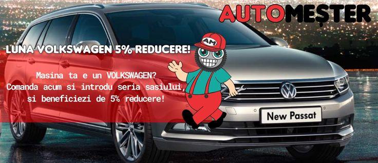 Nu uitati de promotia lunii Martie! Reduceri pentru orice Volkswagen la piese auto, anvelope, jante aliaj etc. Intra sa vezi! #pieseauto #Volkswagen #anvelope #jantealiaj