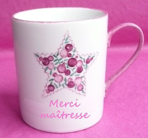 mug etoile liberty rose merci ma tresse cadeau ma tresse. Black Bedroom Furniture Sets. Home Design Ideas