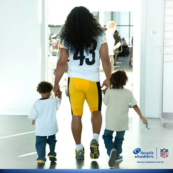 Pittsburgh Steelers~Troy & sons. So freaking cute - Troy Polamalu is the man