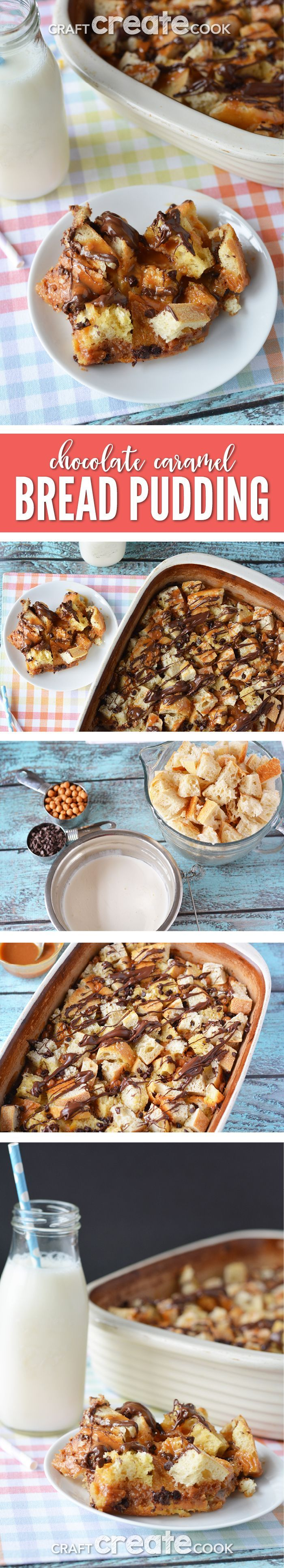 You'll love this modern chocolate caramel spin on a traditional bread pudding recipe. via @CraftCreatCook1