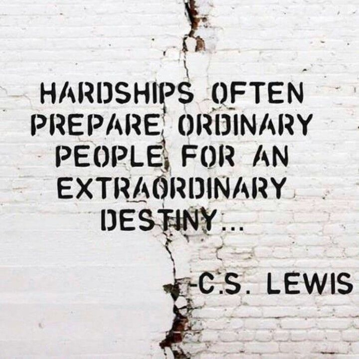 Remember: adversity has a purpose