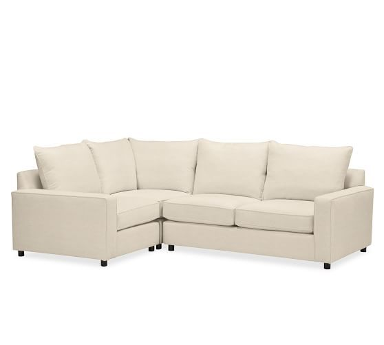 PB Comfort Square Upholstered 3-Piece Sectional | Pottery Barn: