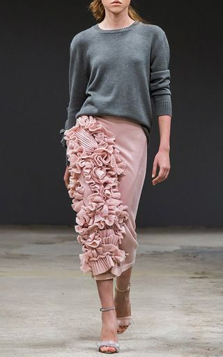 Decorated Sleeve Cashmere Sweater by RUBAN for Preorder on Moda Operandi