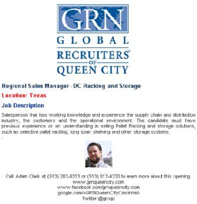 08P Senior Project Manager   Automation Industry Cincinnati OH GRN Queen  City Eric Clark | Job Postings | Pinterest | Cincinnati, Clarks E Città