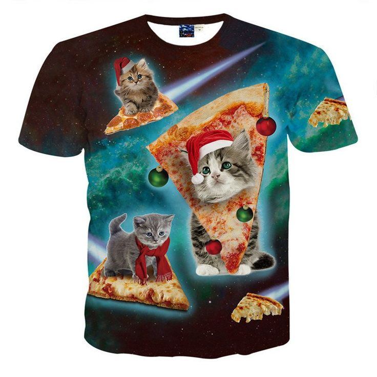 Psychedelic Pizza Cat Shirt