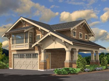 Carriage House Plan, 035G-0015  ~ Great pin! For Oahu architectural design visit http://ownerbuiltdesign.com
