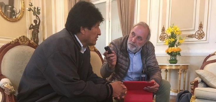 """""""Castro, Trump, il papa e l'Europa"""". Incontro a La Paz con Evo Morales"""