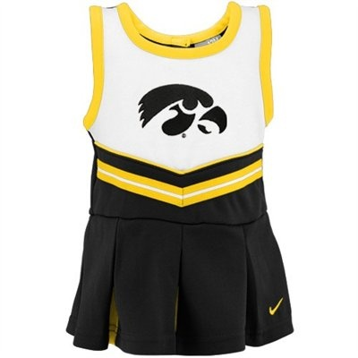 Nike Iowa Hawkeyes Toddler Black Cheer Dress & Bloomers