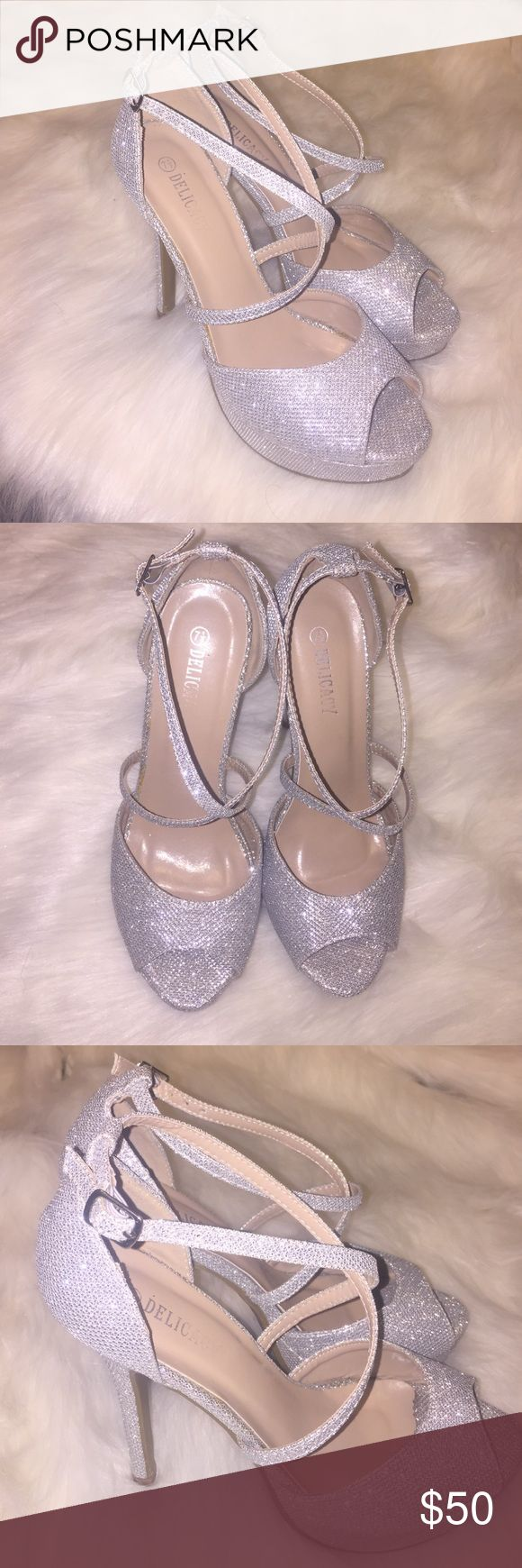 brand new sparkly stiletto pumps silver/glitter stilettok pumps, great for prom! Shoes Heels