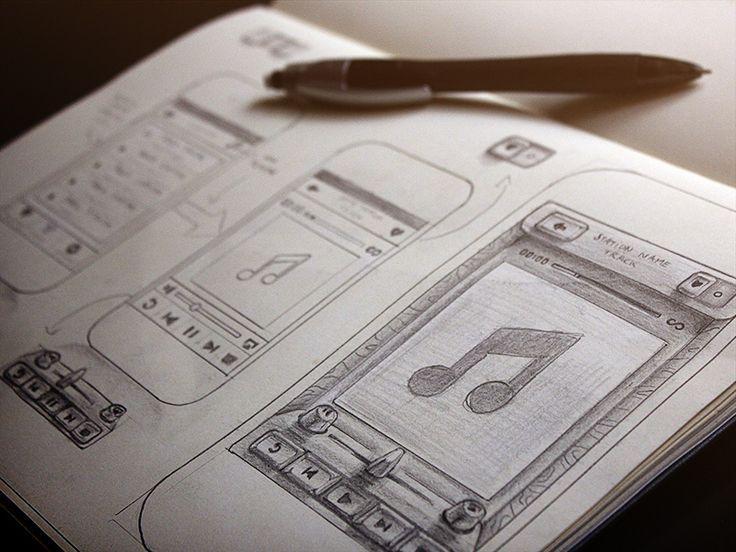 Inspiration Mobile #16 : Croquis et Wireframes   Blog du Webdesign