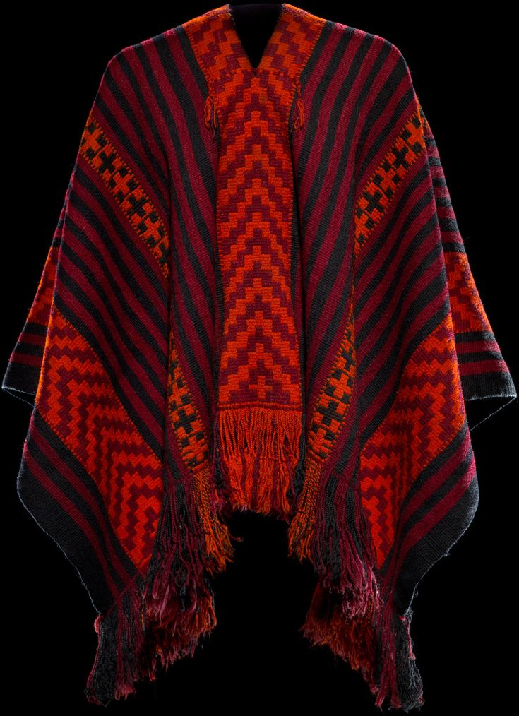 Mapuche poncho ca. 1920, Cholchol, Cautín Province, Chile -  Wool, dye - Infinity of Nations: Art and History in the Collections of the National Museum of the American Indian - George Gustav Heye Center, New York
