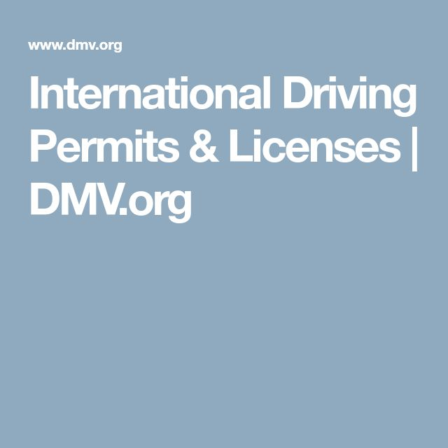 International Driving Permits & Licenses | DMV.org