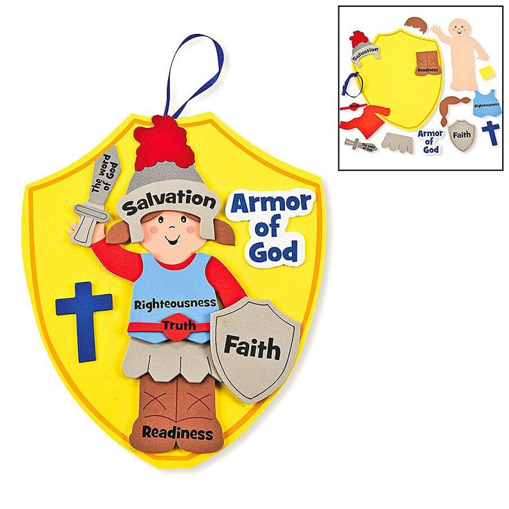 18 best images about armadura de dios gods armor on for Children s christian crafts