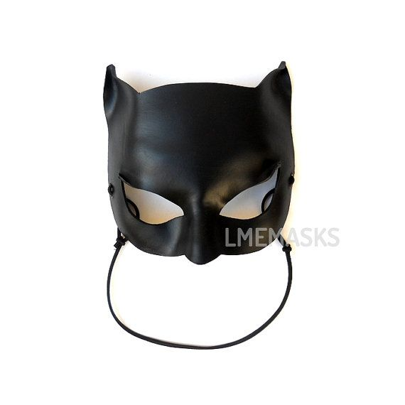 Catwoman Leather Mask Black Super Hero Halloween Sexy