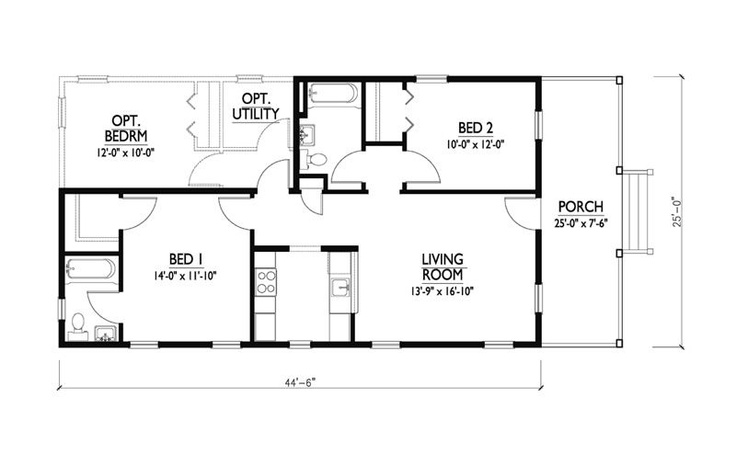 Katrina cottage plan by w a lawrence cabin plans for Sleeping cabin plans