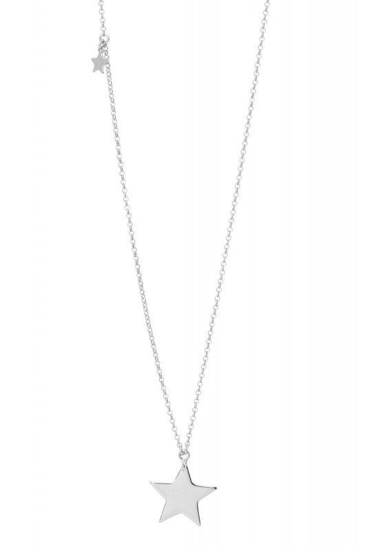 Tomshot Halskette mit zwei Sternen Silber. www.styleserver.de