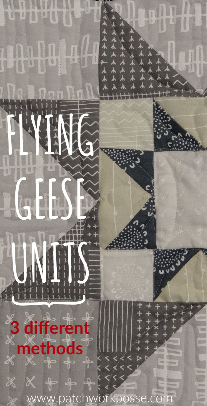 Flying Geese Units for the Summer Solar Eclipse Quilt Along -