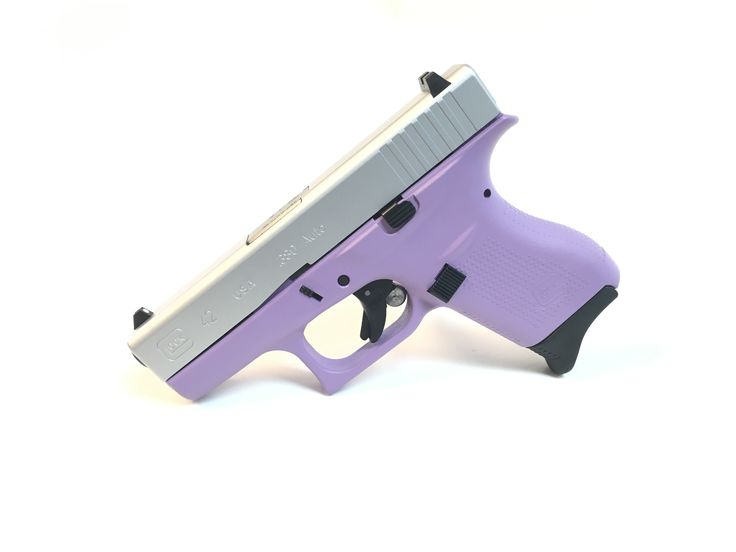 The Glock 42 in Lilac and Stainless Steel is a sharp new look to add to your choices at www.tzarmory.com