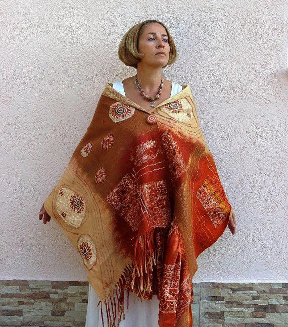 Fieltro Nuno bufanda de fieltro chal bufanda de por Feltingfish