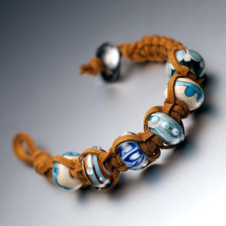 Custom Nalu Beads Murano Glass Beads, Handmade Lampwork Surf Jewellery