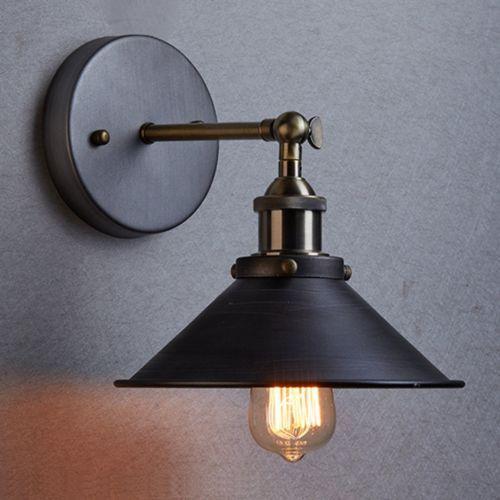 Industrial Retro Vintage Wall Light Lamp Cafe Edison Bulb Indoor Lighting  Black