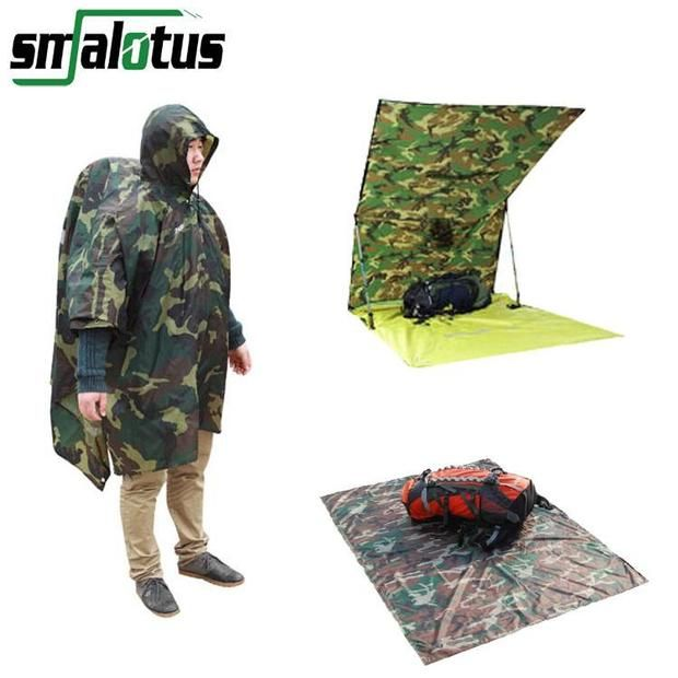 3 in 1 Multifunctional Rain Poncho and Tent Awning | find hiking, camping gear and outdoor gadgets at hikingmaverick.com