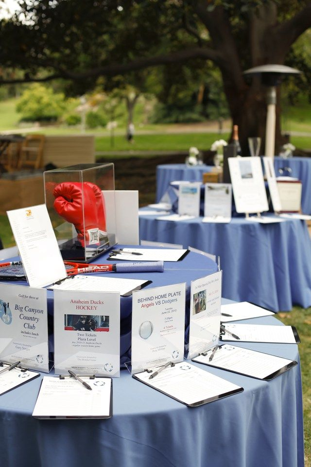 The pictures are fine for intangable items, like tickets or services.. but I like to see the stuff.    table set up for rounds auction idea