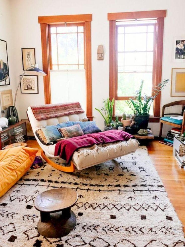 55 Romantic Bohemian Style Living Room Design
