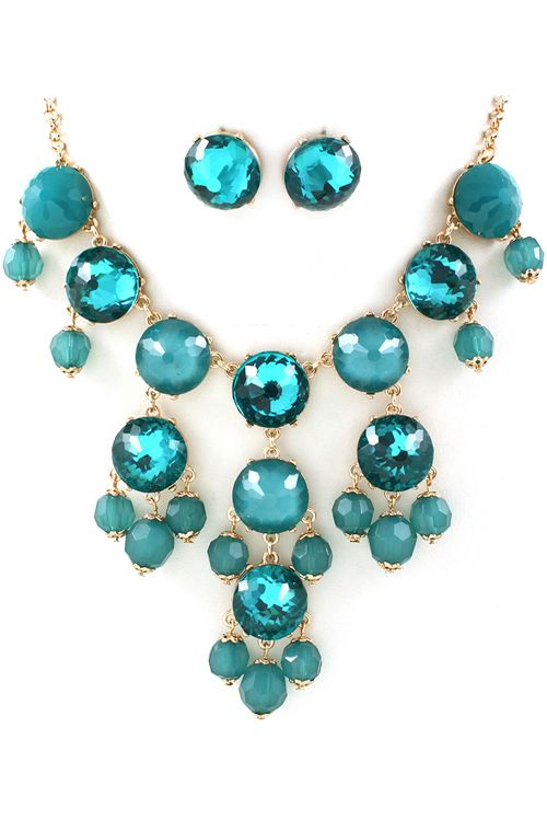 Water Blue Bubble Necklace Set | Awesome Selection of Chic Fashion Jewelry | Emma Stine Limited