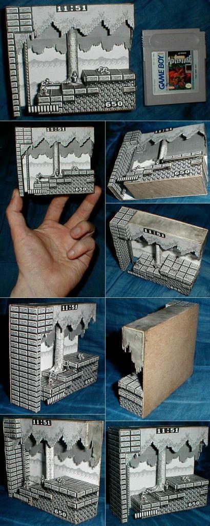 Castlevania Adventure Papercraft Diorama