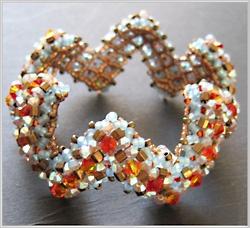 bracelet shaped right angle weave