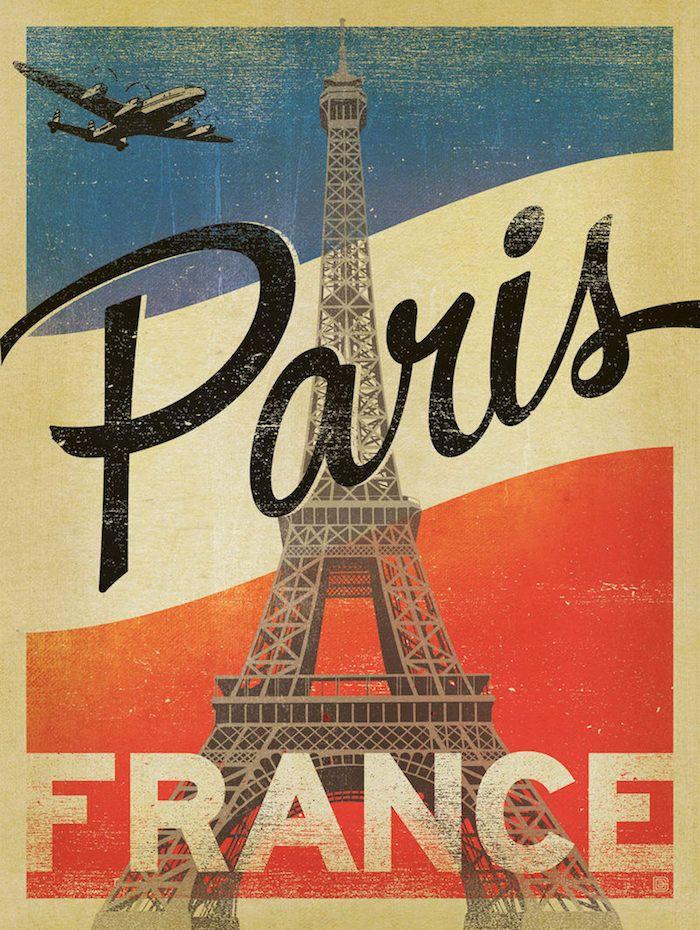 положительного плакат ретро франция руках