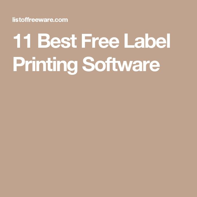 11 Best Free Label Printing Software