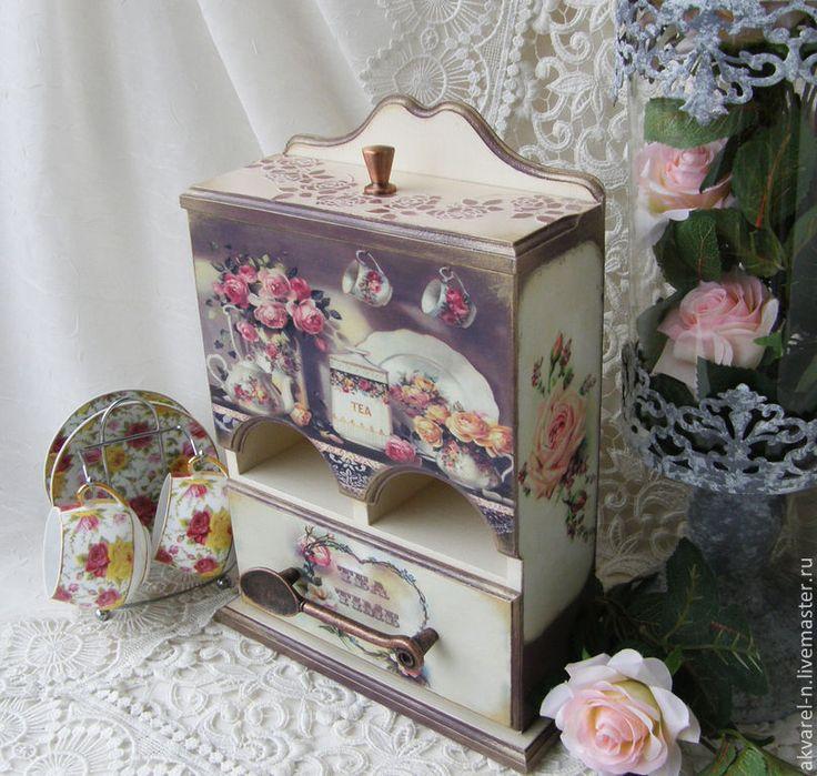 """Купить Чайный домик """"Английские розы"""" - бежевый, чайный домик, чайный домик декупаж"""