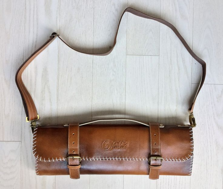 Handmade Leather Chef Knife Roll | Leather Knife Bag | Chef's Satchel