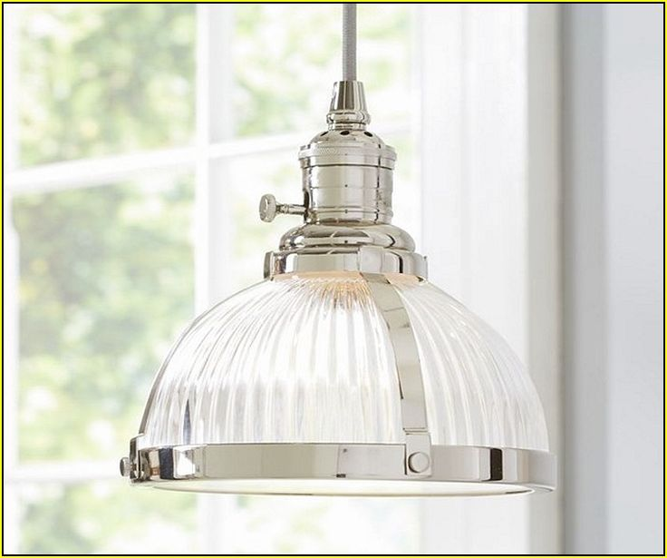 Industrial Chrome Pendant Light